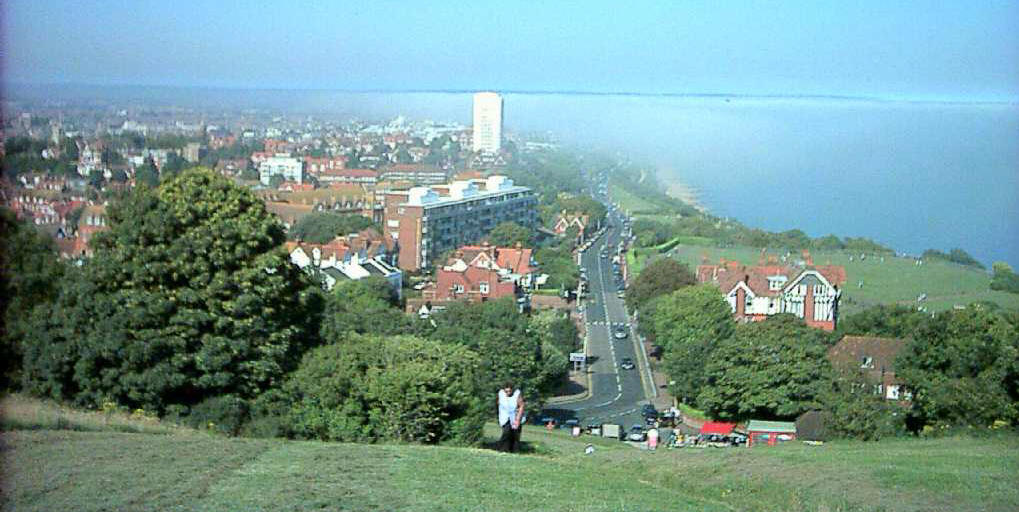 View over Eastbourne from top of Beachy Head