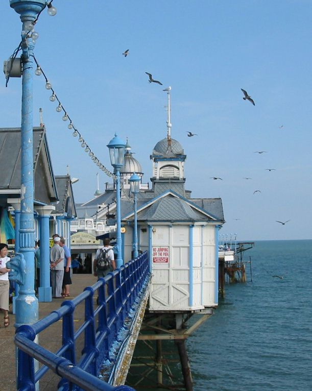 Looking along Eastbourne pier