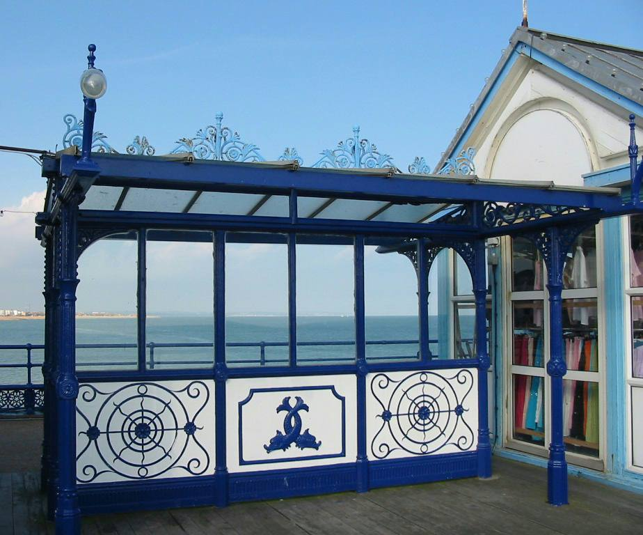 Eastbourne pier decorative wrought iron