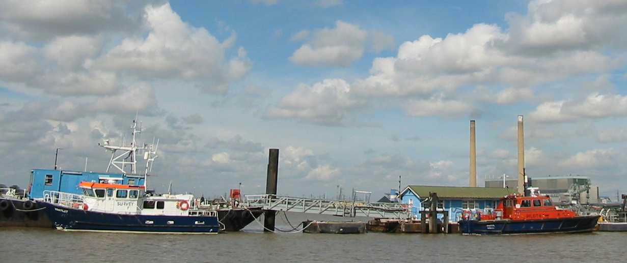 Gravesend river pilot's boat and moorings