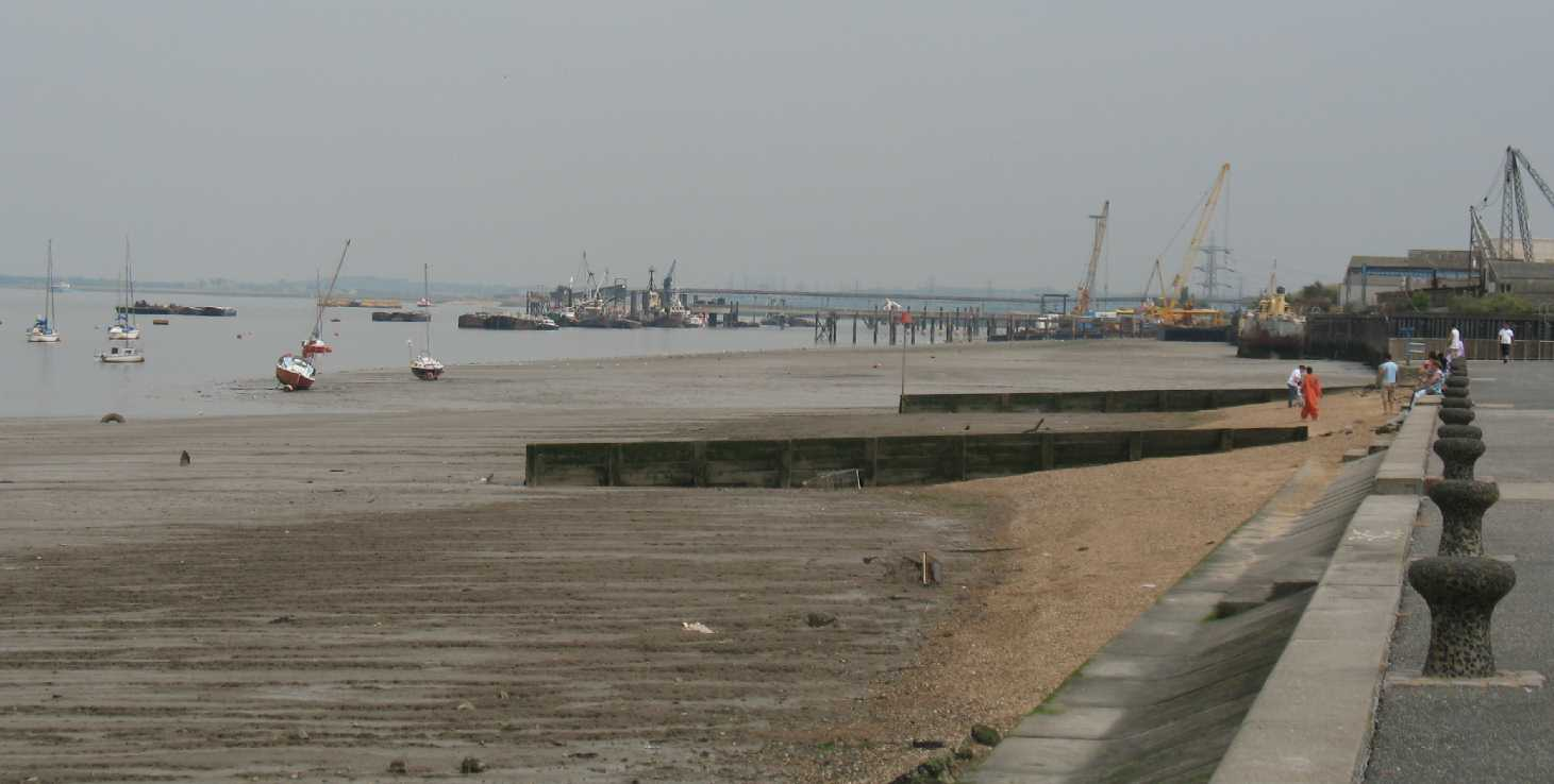 Gravesend, view down the Thames