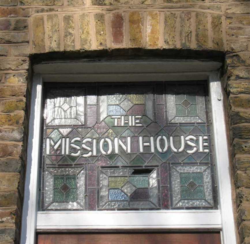 Mission House stained glass fanlight
