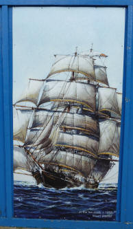 Greenwich - Cutty Sark - Painting of full sail