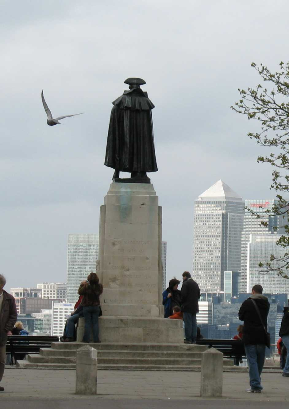 Greenwich Park, statue of General Wolfe