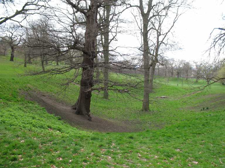 Greenwich Park, slopes and trees