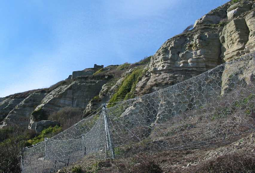 Hastings cliffs steel rock nets