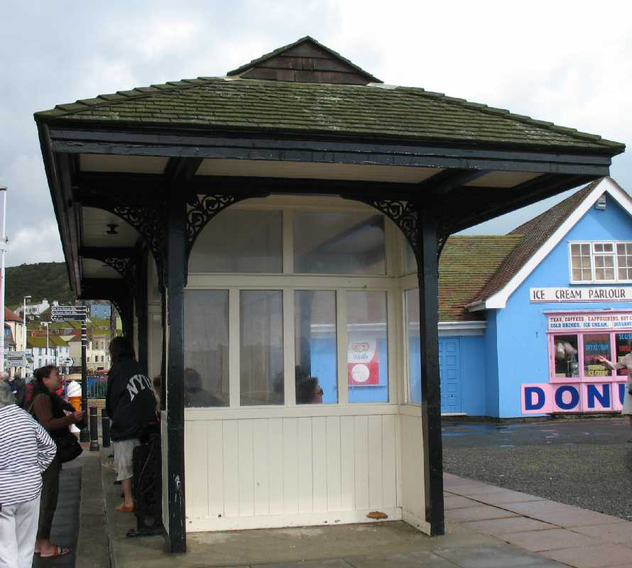 Hastings seafront shelter