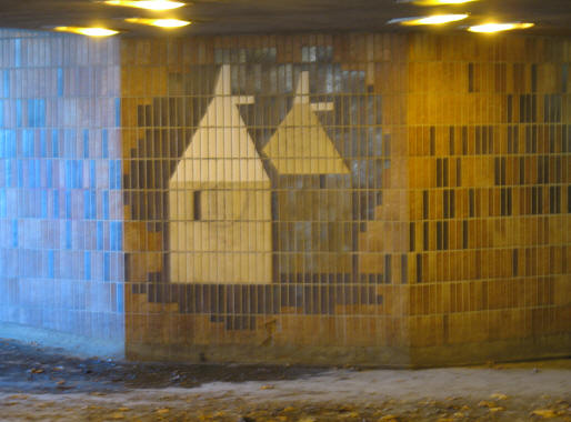 Maidstone underpass tiles oast houses