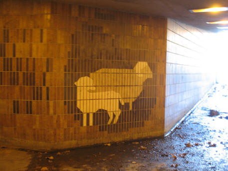 Maidstone underpass tiles sheep