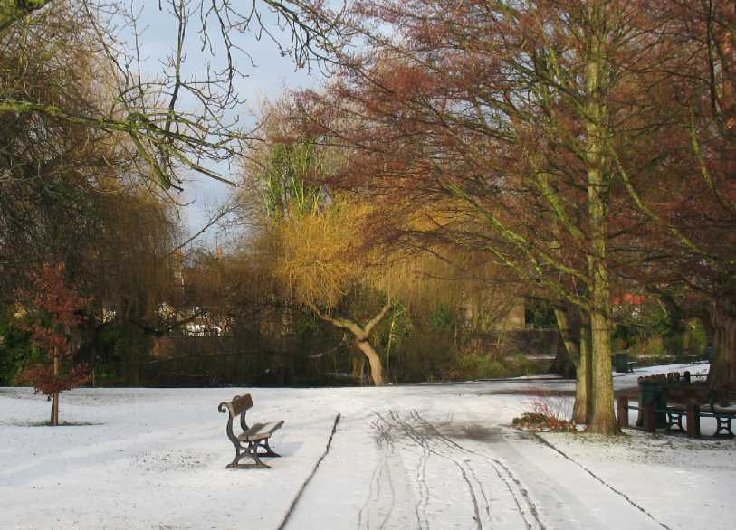 Orpington Priory Gardens in snow 1