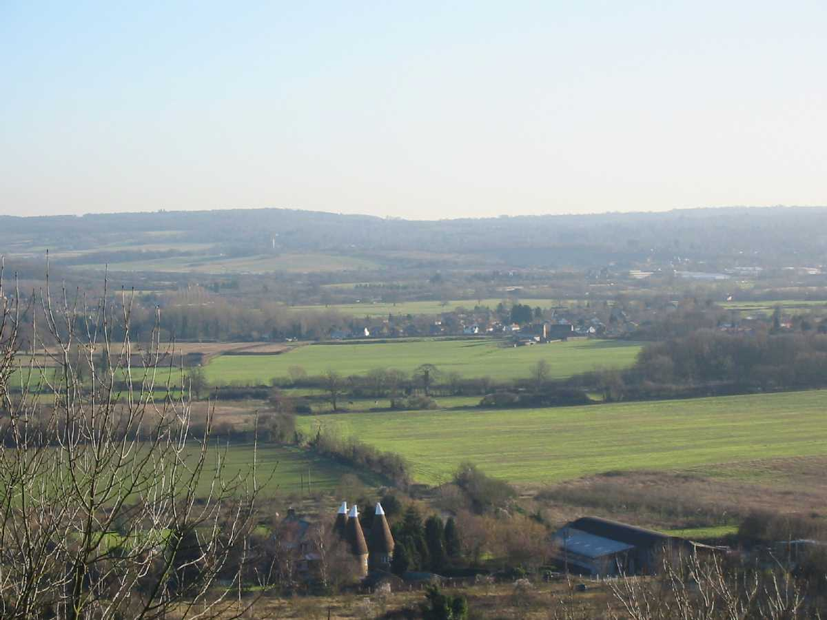 View over Shoreham from Pilots Wood