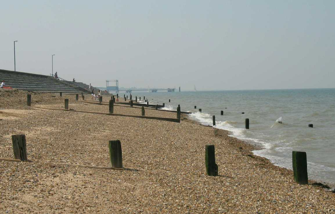 Sheerness beach looking west