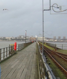 Southend pier looking to shore