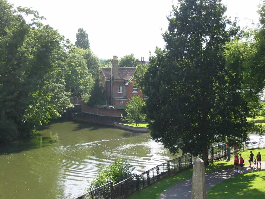 Tonbridge, river seen from castle grounds