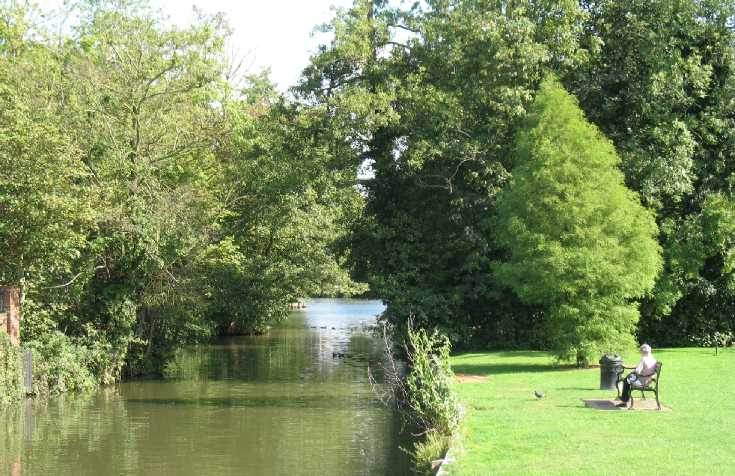 Tonbridge Castle, river view 1