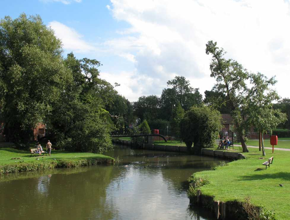 Tonbridge Castle river view 3