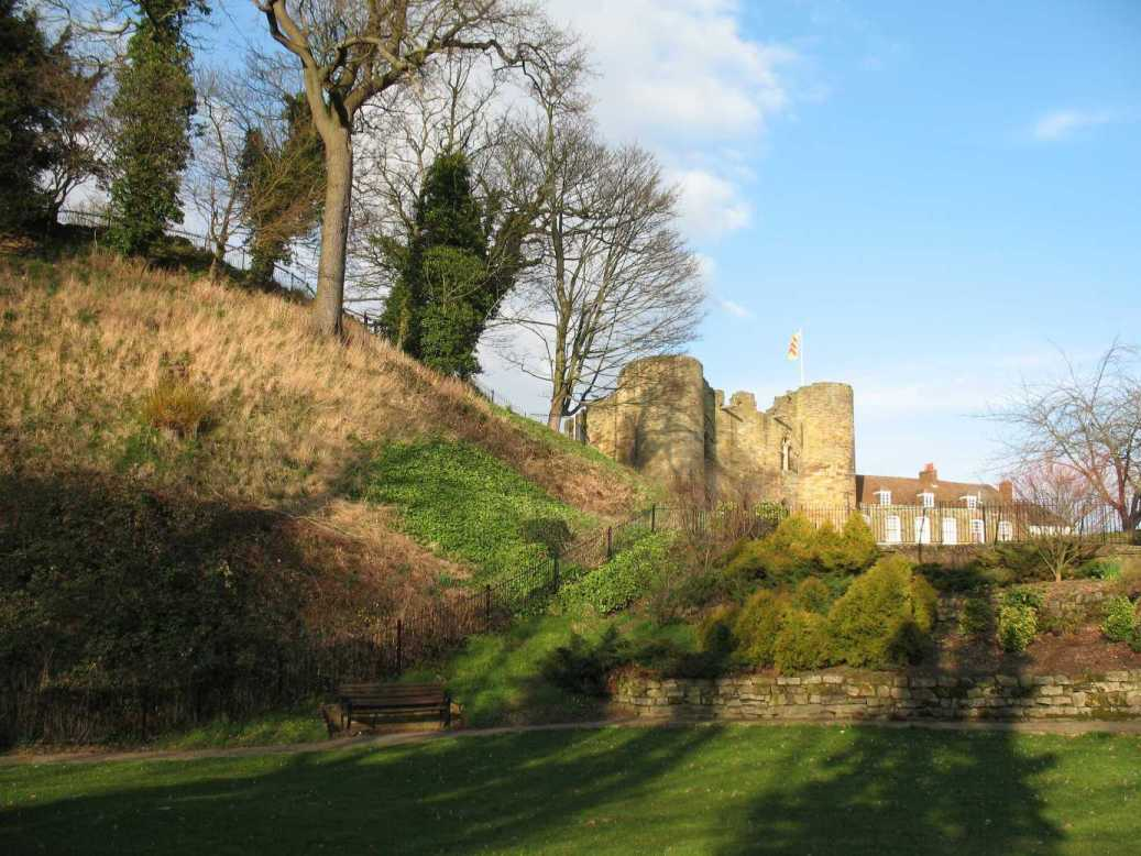 Rear of Tonbridge Castle motte March